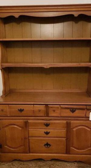 Buffet w/Hutch 4-Drawers & 2-Doors