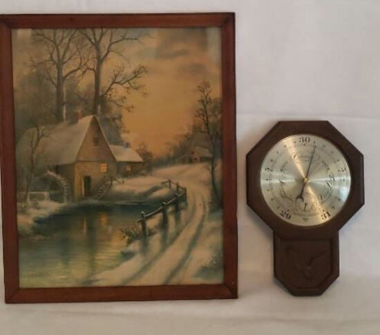 """Picture 18"""" x 22"""" & Barometer"""
