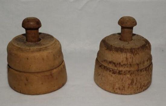 (2) Vintage Butter Molds
