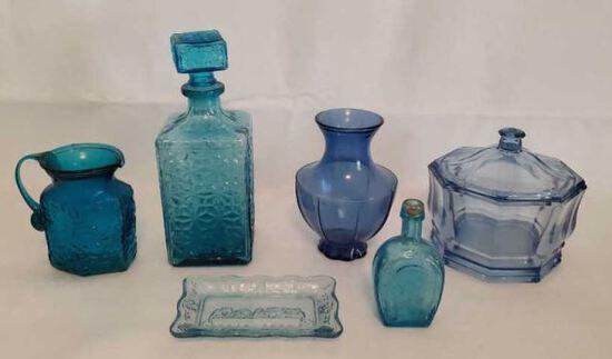 Assorted Blue Glass