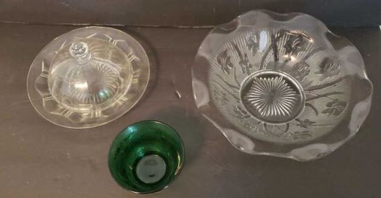 Vintage Glass: Including Iris & Herringbone Bowl