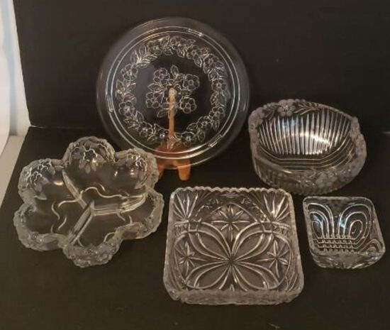 (5) Crystal/Glass Serving Dishes