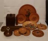 Assorted Decorative Wood Items, etc