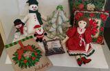 Christmas Pillows, Stuffed Animals, Etc
