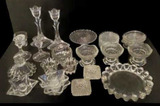 Assorted Glass/Crystal Canfle Holders, Coasters,