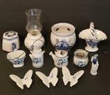 Assorted Blue/White Items: Delft, etc
