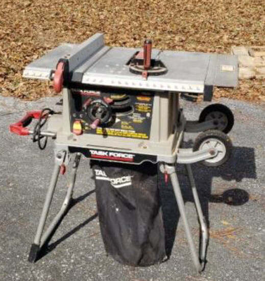 """Task Force 10"""" Table Saw w/Mobile Stand"""