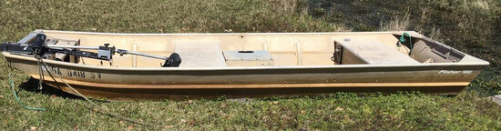 """14' Aluminum Boat """"Fisher"""" with (2) Oars"""