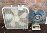 2 Electric Fans:  (1) Box Fan, (1) Oscillating Fan
