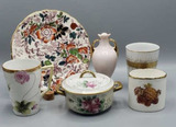 Assorted Painted China: 7