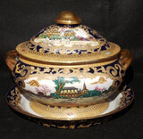 Covered Soup Tureen with Under Plate, Signed
