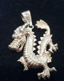 Sterling Silver Dragon Pendant 17.4g