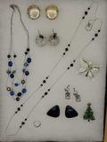 Assorted Costume Jewelry: Nine West, Napier, Etc