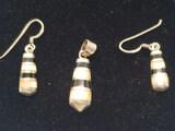 Sterling Silver Earrings & Pendant