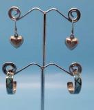(2) Pairs of Sterling Silver Earrings