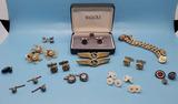 Assorted Mens Jewelry: Cufflinks, Buttons, etc
