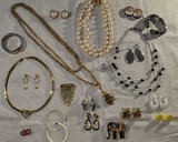 Costume Jewelry: Pierced Earrings, Pin Made in