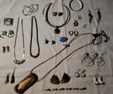 Costume Jewelry: Pierced Earrings, Necklaces,