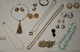 Costume Jewelry: Clip Earrings, Necklaces
