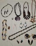 Costume Jewelry: Pierced Earrinhs  Necklaces, etc