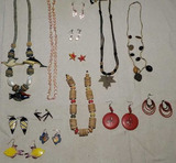 Costume Jewelry: Pierced Earrings, Necklaces, etc..