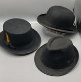 (3) Men's Hats: Stetson, etc