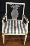 Side Chair w/Upholstered Seat and Pineapple Back