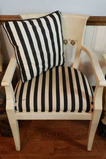 Arm Chair w/Upholstered Seat & Matching Throw