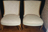 Pair of French Provencial Upholstered Chairs