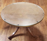 Round Coffee Table w/Glass Top