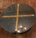 Metal Coffee Table w/Marble Inserts