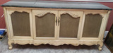 Painted French Provincial Converted Media Cabinet