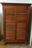 Louvered Door Media Cabinet/Armoire