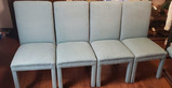 (4) Upholstered Parsons Chairs