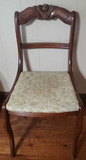 Carved Back Chair w/Upholstered Seat