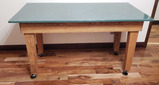 Marble Top Work Table w/Casters