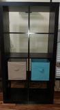 Bookshelf Cubes w/2 Canvas Bins