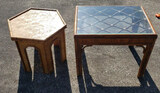(2) Rattan Side Tables: