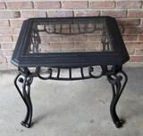 Metal Glass Top Table