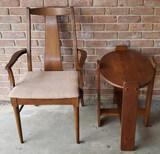Danish Modern Arm Chair & Side Table