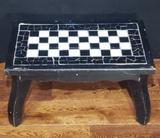 Painted Footstool w/Tile Top