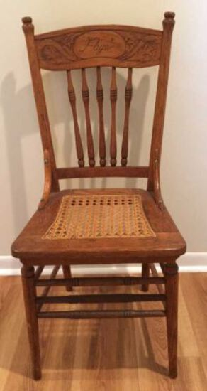 Antique Oak Spindle Back Chair