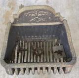 Antique Iron Fireplace Coal Grate-- 16 1/2? x