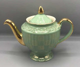 Vintage Hall 091 GL 6 Cup Green with Gold Trim