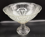 Vintage McKee Concord EAPG Punch Bowl and Stand