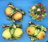 (4) Pieces of Sorento by Armart Ceramic Fruit