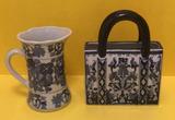 (2) Blue and White Decorative Vases
