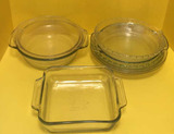 (8) Assorted Pyrex and Anchor Hocking Cookware