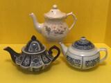 (3) Teapots