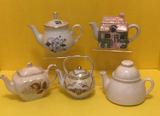 (5) Assorted Teapots